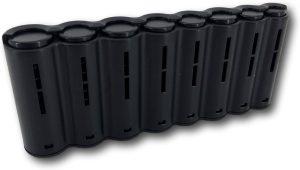 LeonDesign - 1000009 - horeca - munthouder - 8 tubes - zwart