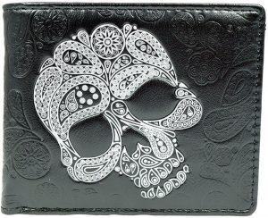 Shagwear Stoer & Funky Mannen Portemonnee - Abstract Skull / Schedel (0435W)