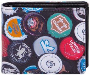 Shagwear Stoer & Funky Mannen Portemonnee - Beer Caps / Kroonkurken (009880W)