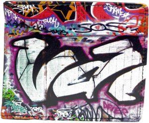 Shagwear Stoer & Funky Mannen Portemonnee - Kleurrijke Graffiti (0507W)