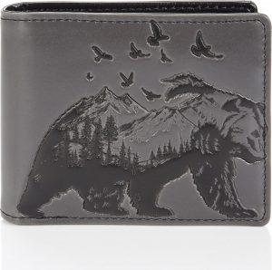 Shagwear Stoer & Funky Mannen Portemonnee - Mountain Bear (009786W)