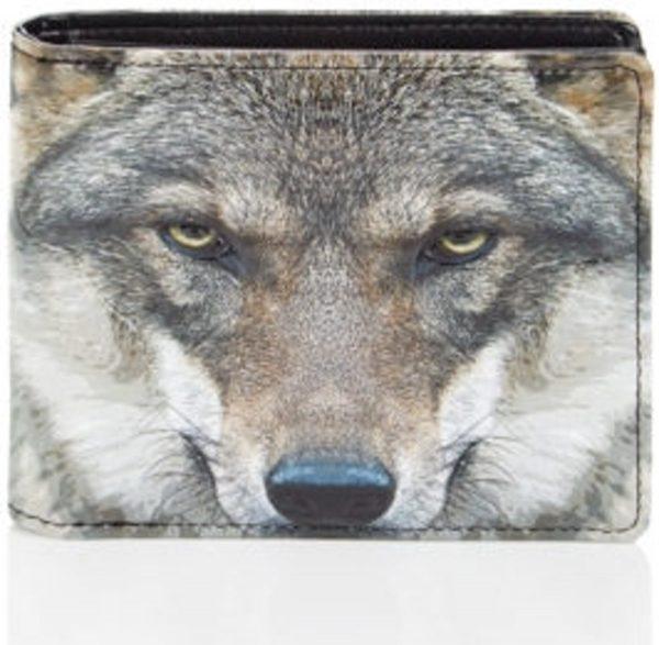 Shagwear Stoer & Funky Mannen Portemonnee - Potrait of Wolf (0308W)