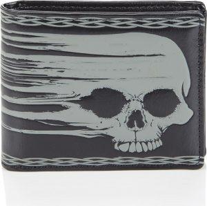 Shagwear Stoer & Funky Mannen Portemonnee - Smeared Skull / Schedel (009783W)