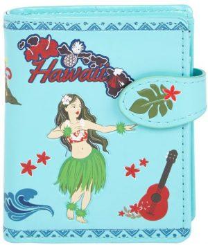 Shagwear Trendy & Funky Compact Vrouwen Portemonnee - Aloha / Hawaiiaans meisje (009876sm)