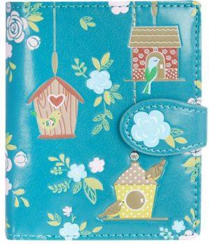 Shagwear Trendy & Funky Compact Vrouwen Portemonnee - Birdie Retreat / Vogelhuisje (009982)