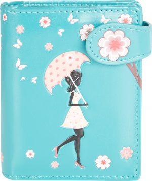 Shagwear Trendy & Funky Compact Vrouwen Portemonnee - Blossom Shower / Douche van Bloesem (0574sm)
