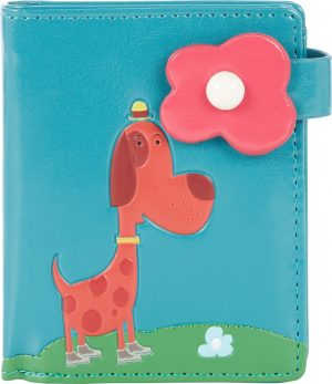 Shagwear Trendy & Funky Compact Vrouwen Portemonnee - City Dog / Hond (0773sm)