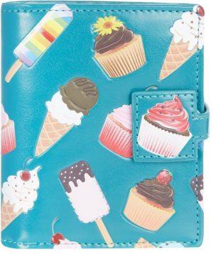 Shagwear Trendy & Funky Compact Vrouwen Portemonnee - Cupcake & Icecream / Koekje & Ijsje (009817sm)