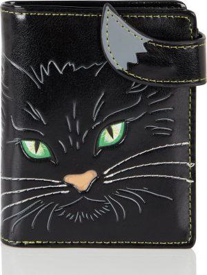Shagwear Trendy & Funky Compact Vrouwen Portemonnee - Fluffy Cat / Kat (0553sm)