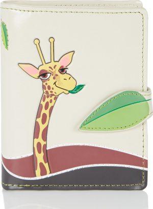 Shagwear Trendy & Funky Compact Vrouwen Portemonnee - Giraffe (0953sm)