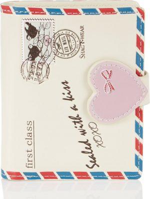 Shagwear Trendy & Funky Compact Vrouwen Portemonnee - Love letter / Liefde Brief (0663sm)