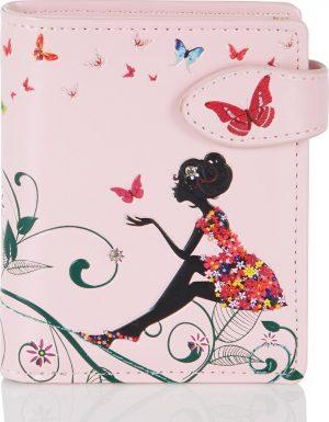 Shagwear Trendy & Funky Compact Vrouwen Portemonnee - Oasis Butterfly / Vlinder (0380sm)