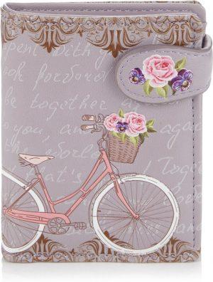 Shagwear Trendy & Funky Compact Vrouwen Portemonnee - Paris Bike / Fiets (009764sm)