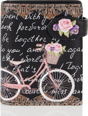 Shagwear Trendy & Funky Compact Vrouwen Portemonnee - Paris Bike / Fiets (009766sm)