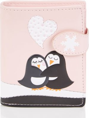 Shagwear Trendy & Funky Compact Vrouwen Portemonnee - Penguins Love (0444sm)
