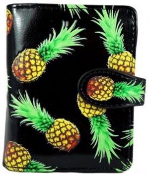 Shagwear Trendy & Funky Compact Vrouwen Portemonnee - Pineapple / Ananas (0270sm)