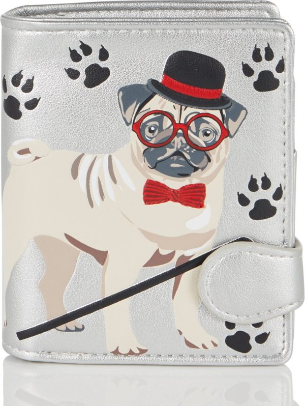 Shagwear Trendy & Funky Compact Vrouwen Portemonnee - Pug Life / Hond (0267sm-S)