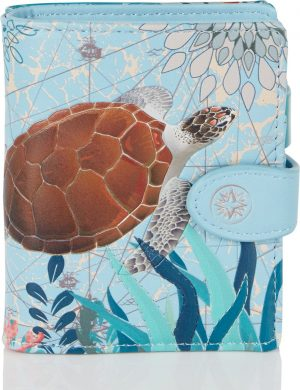 Shagwear Trendy & Funky Compact Vrouwen Portemonnee - Sea Turtle / Zeeschildpad (009746sm)