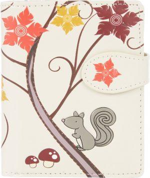 Shagwear Trendy & Funky Compact Vrouwen Portemonnee - Squirrel / Eekhoorn (0734sm)
