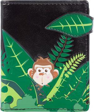 Shagwear Trendy & Funky Compact Vrouwen Portemonnee - Swinging Monkey / Aap (0702sm)