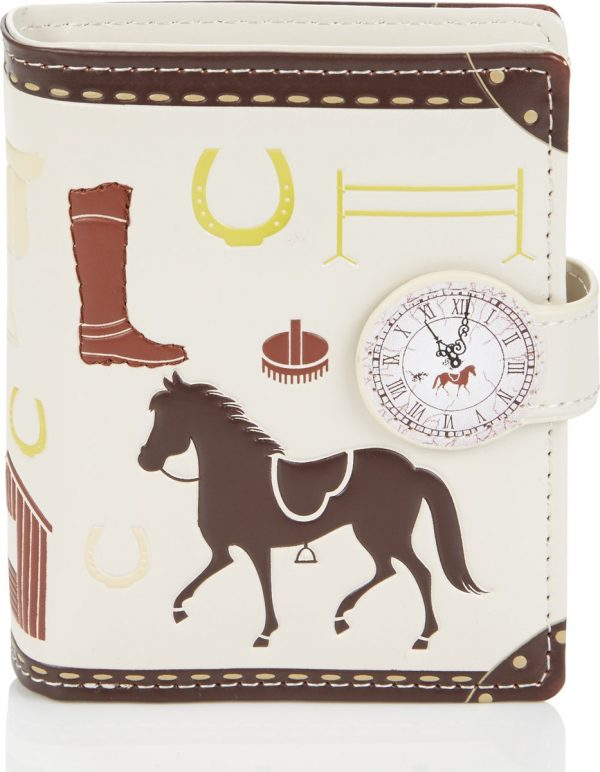 Shagwear Trendy & Funky Compact Vrouwen Portemonnee - Unbridled Horses / Paard (0476sm)