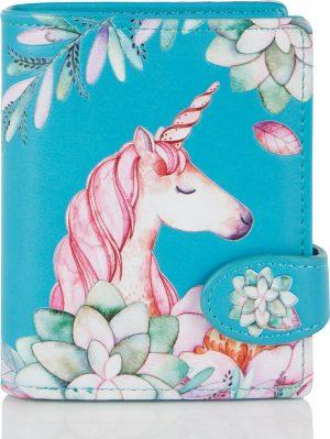 Shagwear Trendy & Funky Compact Vrouwen Portemonnee - Unicorn / Eenhoorn (009740sm)