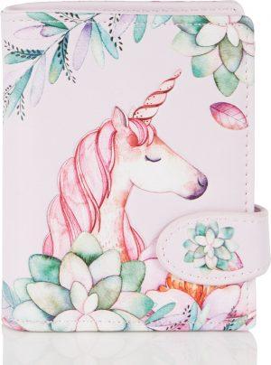 Shagwear Trendy & Funky Compact Vrouwen Portemonnee - Unicorn / Eenhoorn (009741sm)