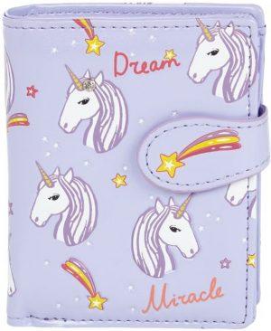 Shagwear Trendy & Funky Compact Vrouwen Portemonnee - Unicorns / Eenhoorns (009818sm-P)