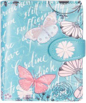 Shagwear Trendy & Funky Compact Vrouwen Portemonnee - Vintage Butterfly / Vlinder (00298sm)