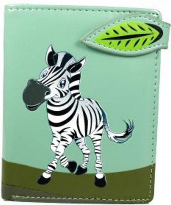 Shagwear Trendy & Funky Compact Vrouwen Portemonnee - Zebra (0842sm)