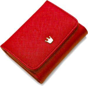 ZILOU Portemonnee Compact - Mini Wallet Met Afneembaar Rits Etui - Dames - Kunstleer - Rood