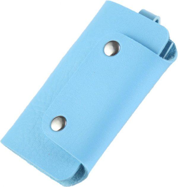 ZILOU Sleuteletui - Sleuteltasje - Key Wallet Compact - Kunstleer - Blauw