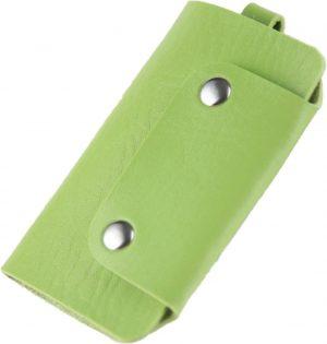 ZILOU Sleuteletui - Sleuteltasje - Key Wallet Compact - Kunstleer - Groen