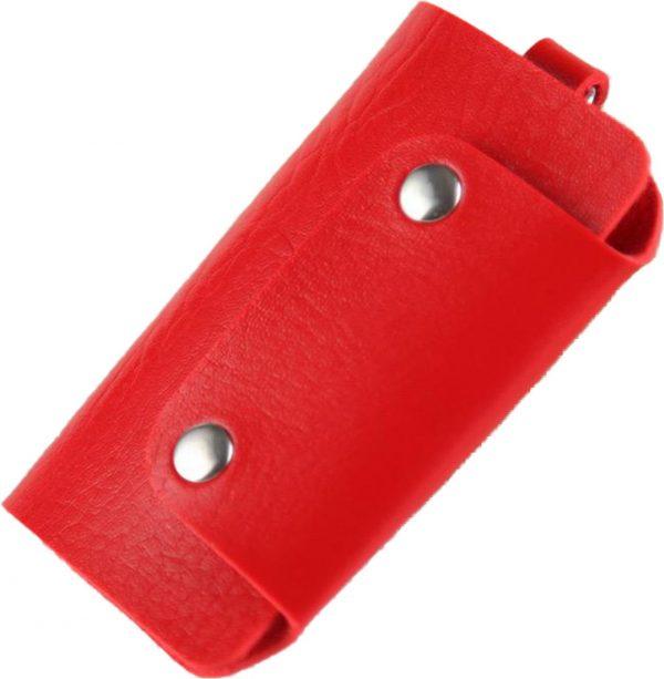 ZILOU Sleuteletui - Sleuteltasje - Key Wallet Compact - Kunstleer - Rood