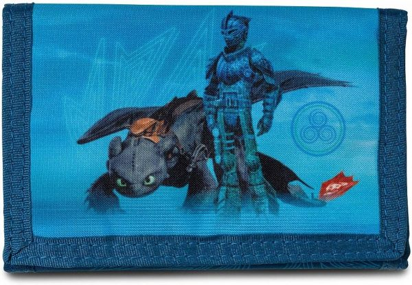 Hoe Tem je een Draak Fly with me - Portemonnee - 14 x 10 cm - Blauw