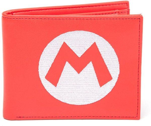 Nintendo - rode gevouwen portemonnee van Super Mario met geborduurd logo