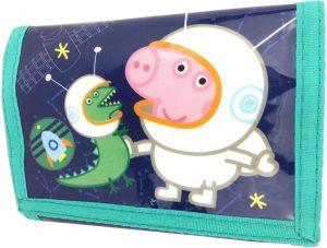 Peppa Pig Portemonnee George En Dino Groen 13 X 9 Cm