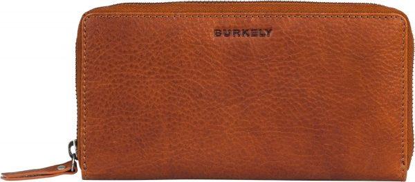BURKELY Antique Avery Wallet L Dames Ritsportemonnee - Leer - Cognac