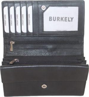 BURKELY dames overslag bak voor kleingeld soft Zwart