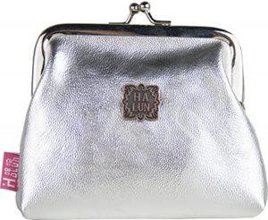 Knipportemonnee - zilver (glimmend) - knip - portemonnee