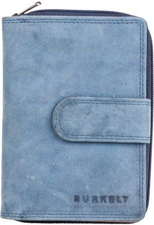 Leren portemonnee BURKELY Stacey Multi Wallet Loop Blauw