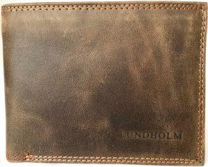 Lundholm - Heren Portemonnee heren leer - vintage leer - Bruin