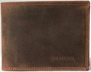 Lundholm - Hoogwaardig leren portemonnee heren - billfold model bruin