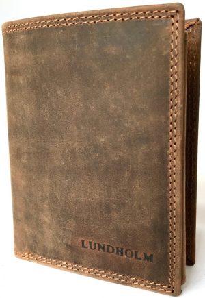 64f4e1d9036 Lundholm - Leren portemonnee heren bruin - Premium vintage - Hoog model  portemonnee leer