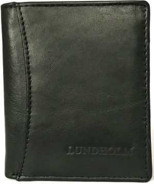 Lundholm - Leren portemonnee heren - compact model met RFID anti skim - Zwart