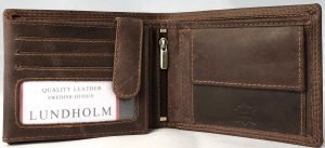 Lundholm Leren portemonnee heren leer - Premium vintage leer - Bruin