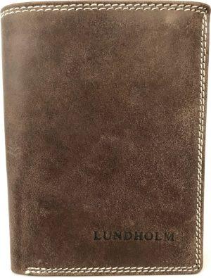 Lundholm - Leren portemonnee heren leer - Premium vintage - staand model - Bruin