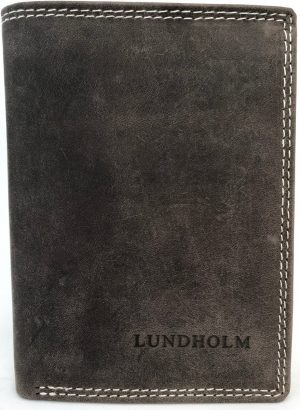 Lundholm - Leren portemonnee heren leer - Premium vintage - staand model - Taupe Bruin