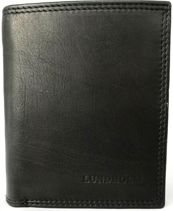 Lundholm - Leren portemonnee heren leer - Ruim model - Luxe RFID anti-skim uitvoering - Zwart