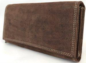 Lundholm - Luxe Leren portemonnee dames leer - overslag harmonica model - Bruin
